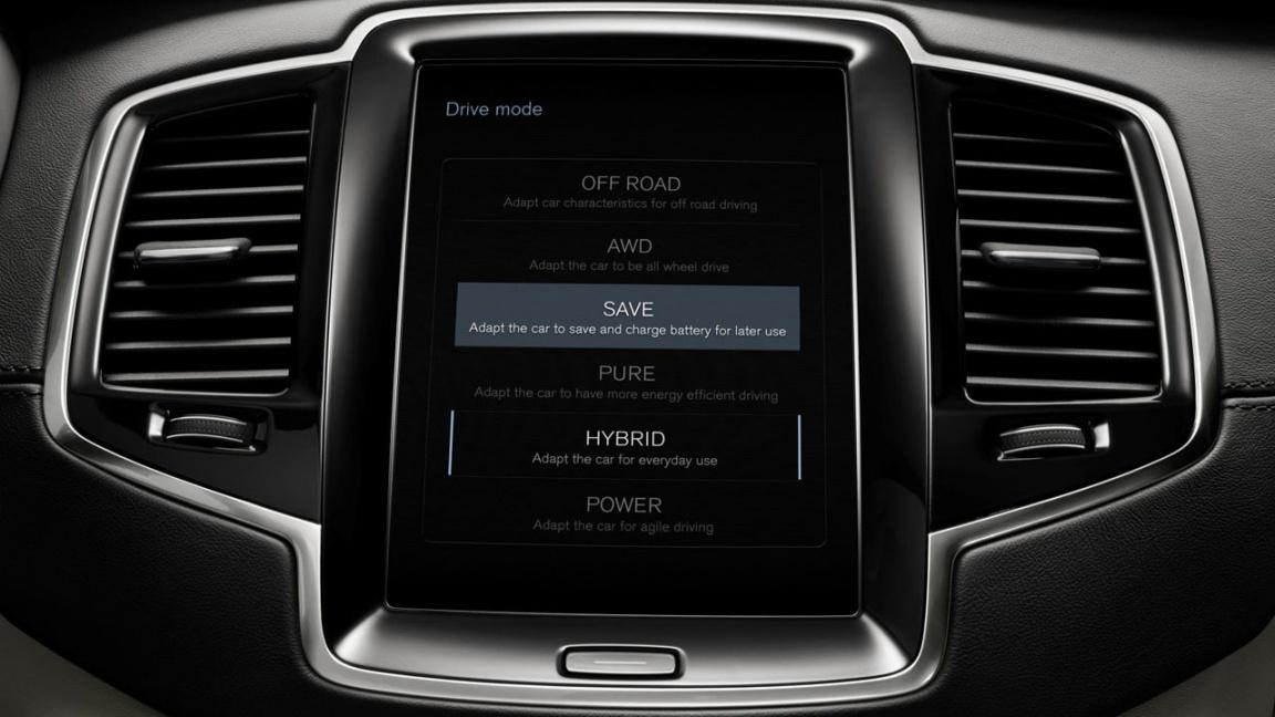 Volvo XC90 T8 Twin Engine система выбора режимов езды
