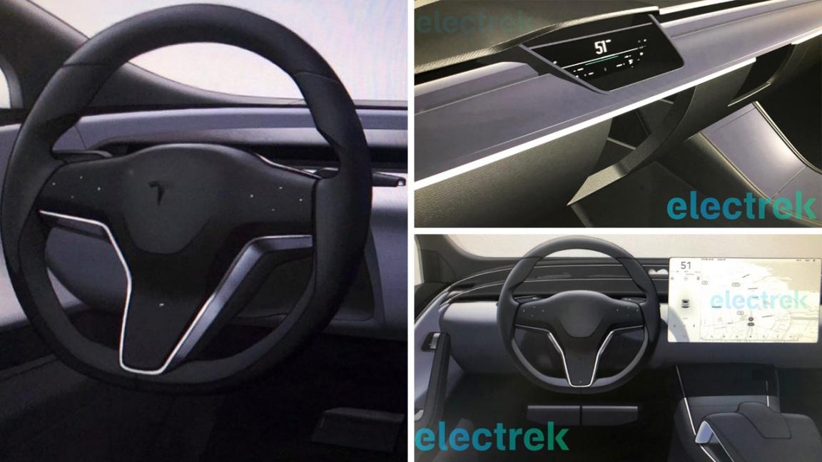 Обновленный интерьер Tesla